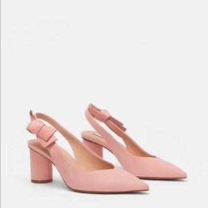 Zara heels with bow